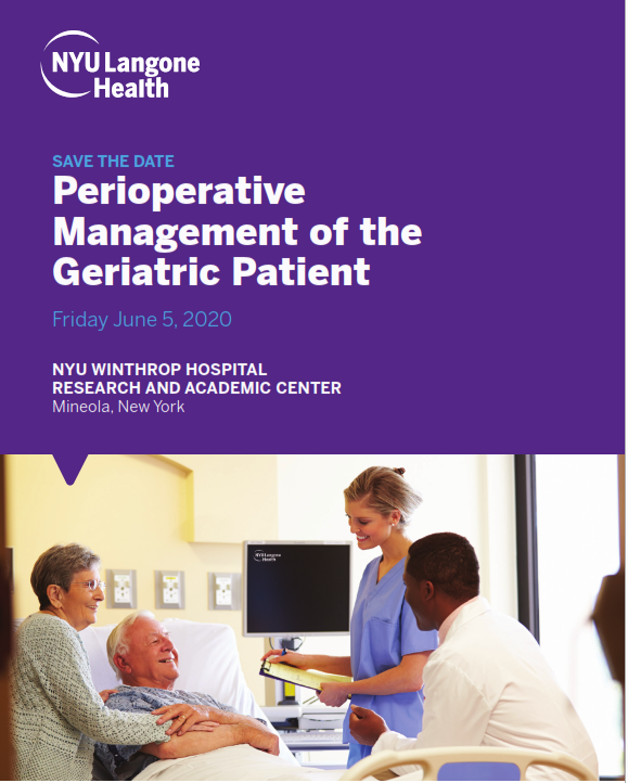 (CANCELLED) Perioperative Management of the Geriatric Patient Banner