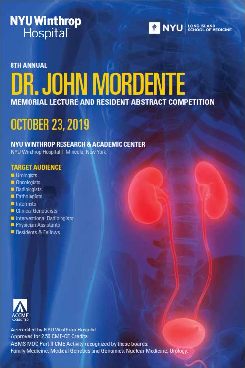 8th Annual Dr. John Mordente Memorial Lecture/Resident Abstract Competition Banner